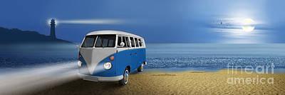 Blue ... Beach ... Bulli Poster