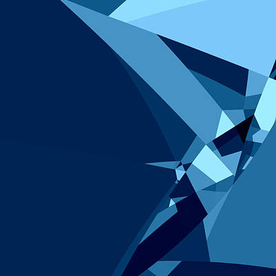Blue Abstract 1 Poster by GuoJun Pan