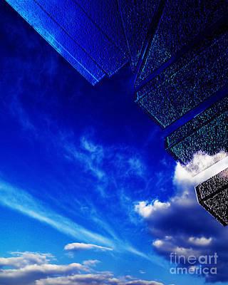 Blue Poster by Adriano Pecchio
