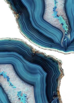Blue Agate Poster by Emanuela Carratoni