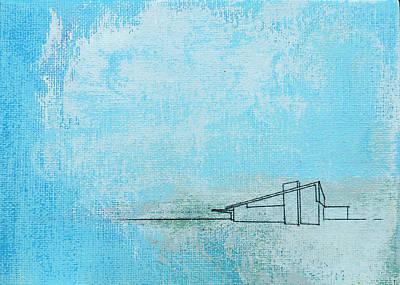 Blue Alexander White Mist Poster