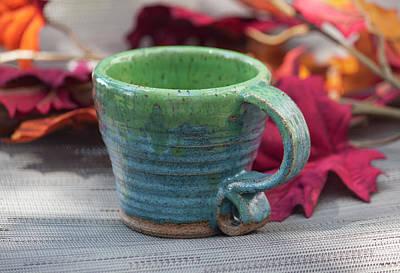 Blue And Green Mug Poster