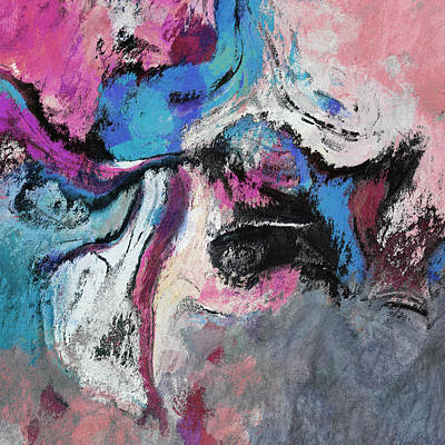 Poster featuring the painting Blue And Pink Abstract Painting by Ayse Deniz