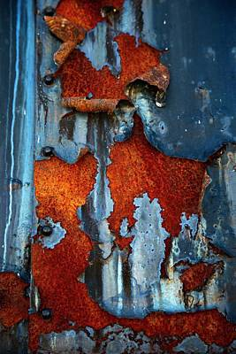 Poster featuring the photograph Blue And Rust by Karol Livote