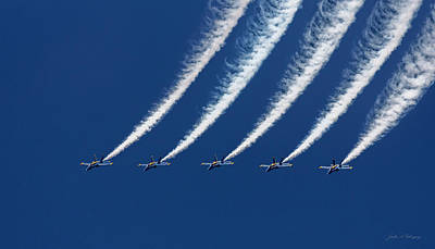 Blue Angels Formation Poster by John A Rodriguez