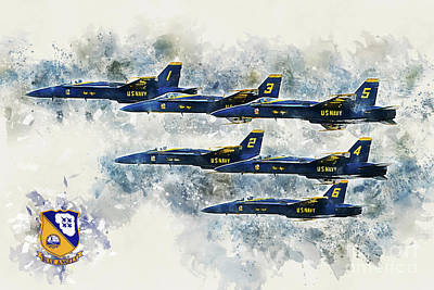 Blue Angels - Painting Poster