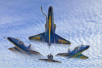 Blue Angels V.2 Electric Edition Poster by Tim Stanley