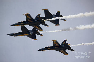 Blue Angels With Precision Poster