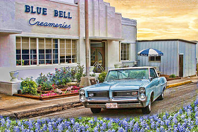 Blue Bell, Bluebonnets, And My Grand Prix Poster