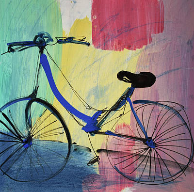 Blue Bicycle Poster