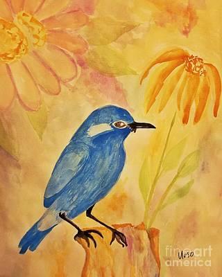 Blue Bird Poster by Maria Urso