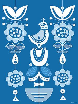 Blue Birds In Scandinavia Poster