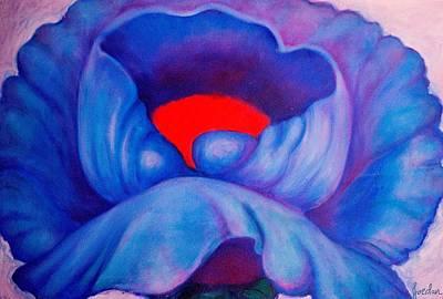 Blue Bloom Poster by Jordana Sands