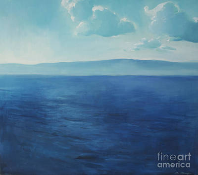 Blue Blue Sky Over The Sea  Poster