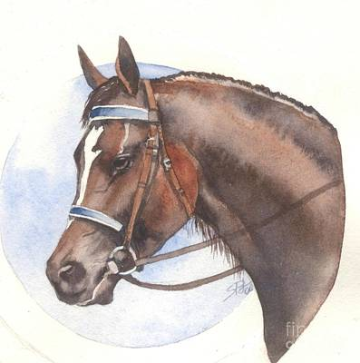 Poster featuring the painting Blue Bridle by Sandra Phryce-Jones