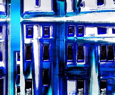 Blue Buildings Poster