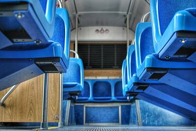 Blue Bus Seats Poster