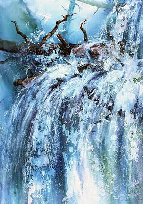 Blue Cascades Poster