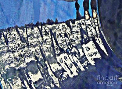 Blue Ceramic Bowl In Eltville 4 Poster by Sarah Loft