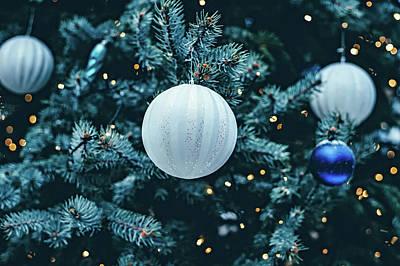 Blue Christmas Poster