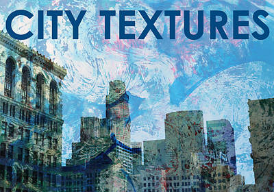 Blue City Textures Poster