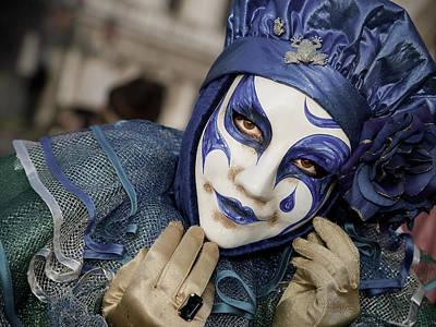 Blue Clown Poster by Stefan Nielsen