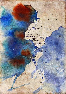 Blue Color Splash Poster