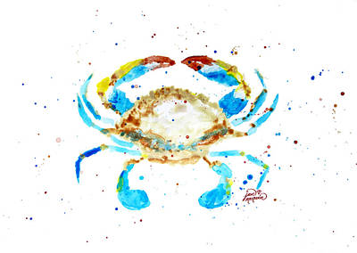 Blue Crab By Jan Marvin Poster by Jan Marvin