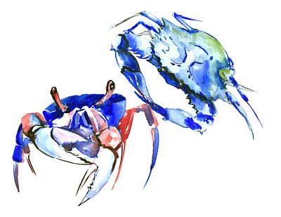 Blue Crabs Poster by Suren Nersisyan