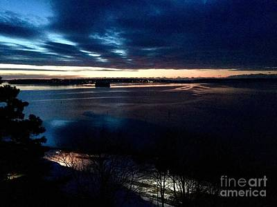 Blue Dawn On Casco Bay Poster