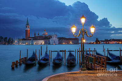 Poster featuring the photograph Blue Dawn Over Venice by Brian Jannsen