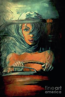 Blue Desire Poster by Milene Hertug
