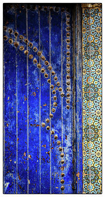 Poster featuring the photograph Blue Door In Marrakech by Marion McCristall