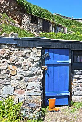 Blue Door Orange Boot Poster by Terri Waters