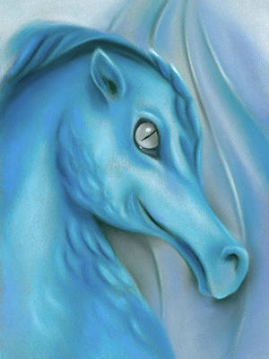 Poster featuring the pastel Blue Dragon by MM Anderson