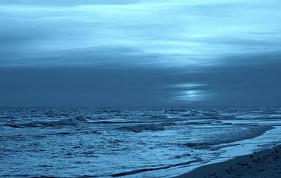 Blue Evening Poster by Sandy Keeton