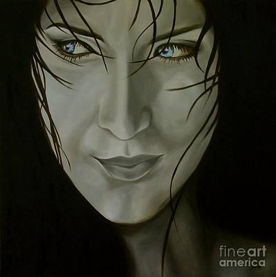 Blue-eyed Girl Poster by Jindra Noewi