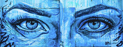 Blue Eyes Poster by Colleen Kammerer