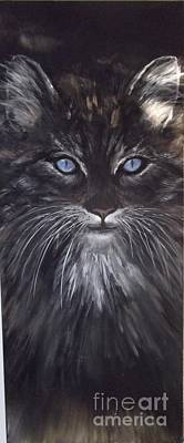 Blue Eyes The Cat Poster by Lizzy Forrester