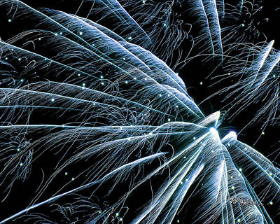 Blue Fairy Fireworks #0710_3 Poster