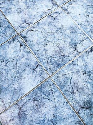 Blue Floor Tiles Poster by Tom Gowanlock