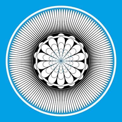 Blue Floral Design Poster