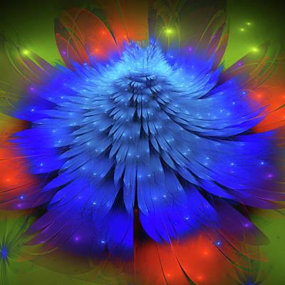 Blue Flower  Poster by Larissa Davydova
