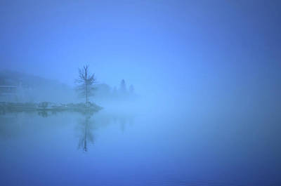 Poster featuring the photograph Blue Fog At Skaha Lake by Tara Turner