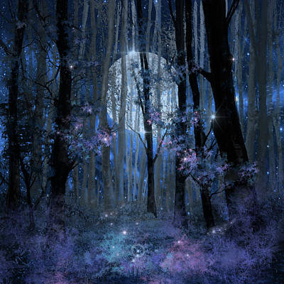 Blue Forest Poster by Bekim Art