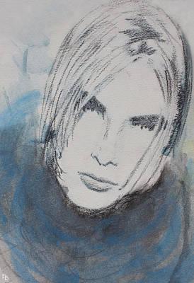 Blue Girl Poster by Francesca Borgo