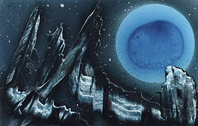Blue Gloss Poster by Jason Girard
