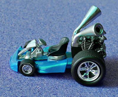 Blue Go Kart Poster by Bruce Roker