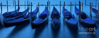 Poster featuring the photograph Blue Gondolas by Brian Jannsen