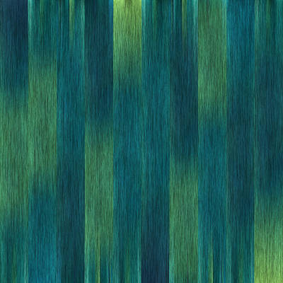 Blue Green Abstract 1 Poster